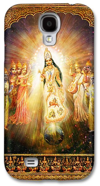 Goddess Durga Galaxy S4 Cases - Parashakti Devi - the Great Goddess in Space Galaxy S4 Case by Ananda Vdovic