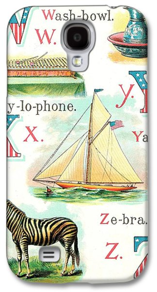 4th July Paintings Galaxy S4 Cases - Patriot ABC Book  Page Twelve Galaxy S4 Case by Reynold Jay