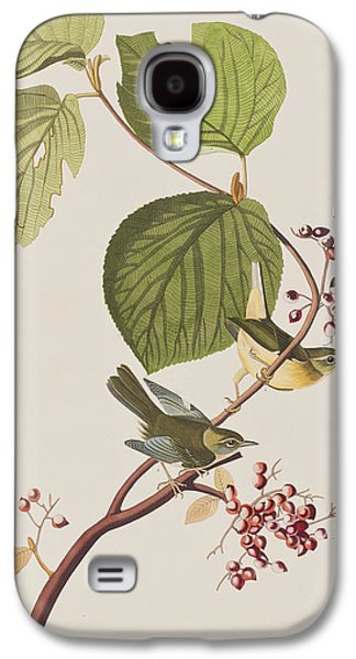Leaf Drawings Galaxy S4 Cases - Pine Swamp Warbler Galaxy S4 Case by John James Audubon