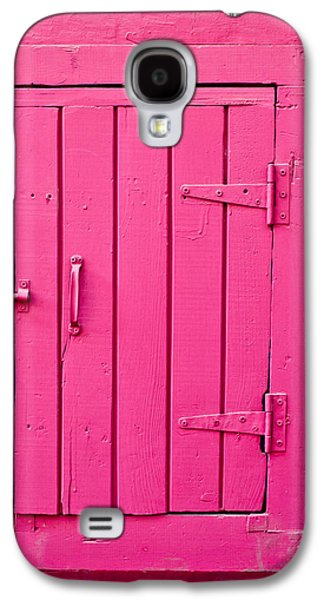 Shed Galaxy S4 Cases - Pink door Galaxy S4 Case by Tom Gowanlock