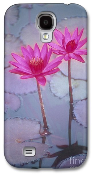 Nature Center Pond Galaxy S4 Cases - Pink Lily Blossom Galaxy S4 Case by Ron Dahlquist - Printscapes