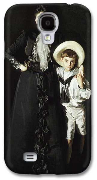 Portrait Of Mrs Edward L Davis And Her Son Livingston Davis Galaxy S4 Case by John Singer Sargent