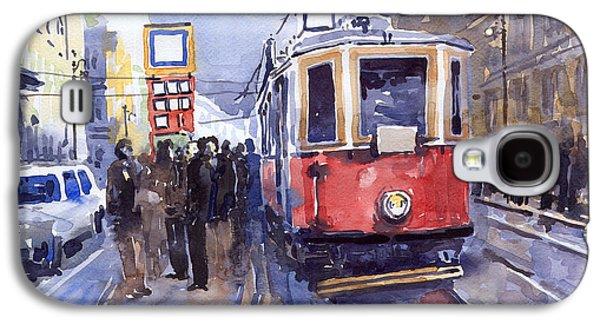 Prague Old Tram 03 Galaxy S4 Case by Yuriy  Shevchuk