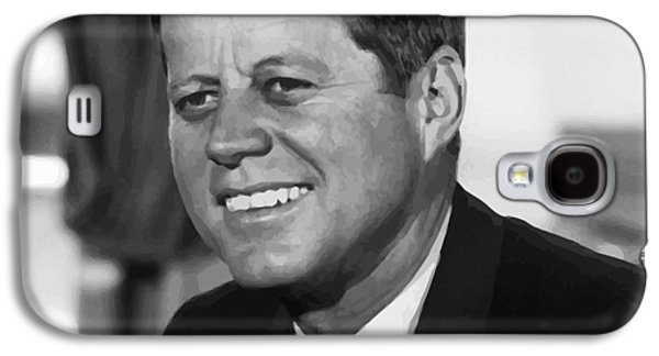 Leaders Galaxy S4 Cases - President Kennedy Galaxy S4 Case by War Is Hell Store