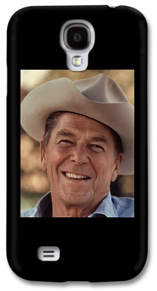 The Americas Galaxy S4 Cases - President Ronald Reagan Galaxy S4 Case by War Is Hell Store