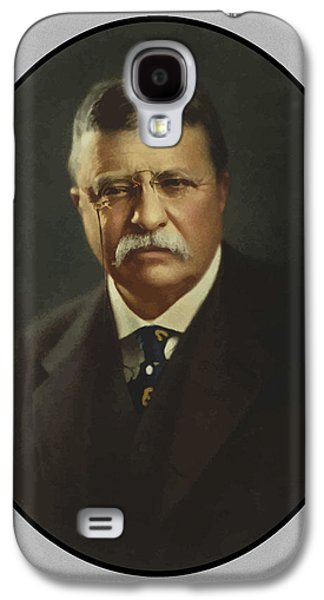 War Paintings Galaxy S4 Cases - President Theodore Roosevelt  Galaxy S4 Case by War Is Hell Store