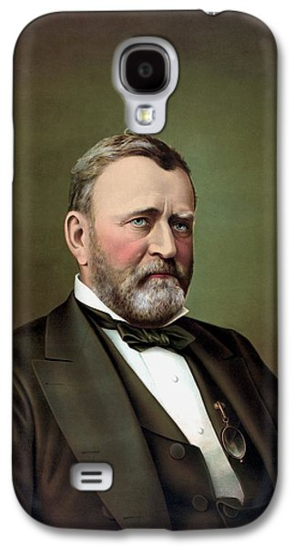 Military Paintings Galaxy S4 Cases - President Ulysses S Grant Galaxy S4 Case by War Is Hell Store