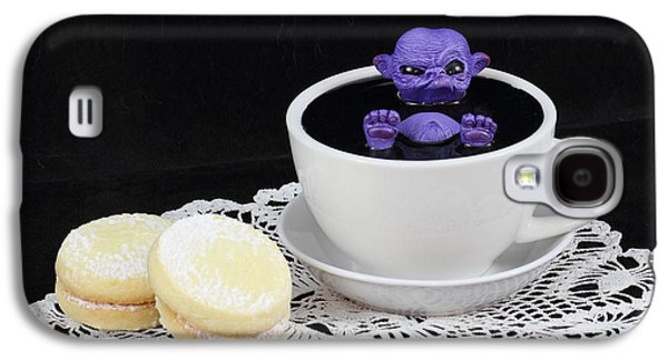 Michael Sculptures Galaxy S4 Cases - Purple fairy in a Teacup Galaxy S4 Case by Michael Palmer
