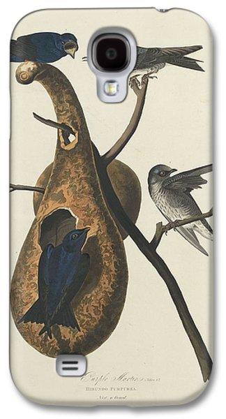 Purple Drawings Galaxy S4 Cases - Purple Martin Galaxy S4 Case by John James Audubon
