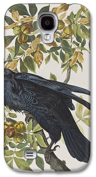 Talons Paintings Galaxy S4 Cases - Raven Galaxy S4 Case by John James Audubon