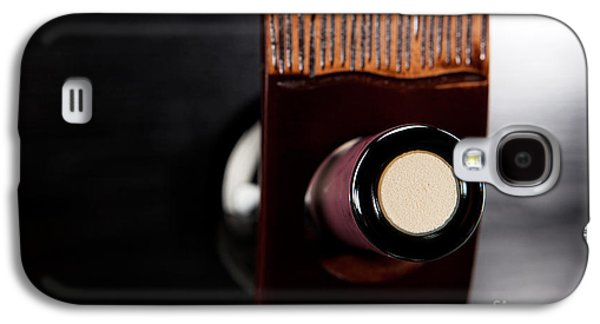 Wine Holder Galaxy S4 Cases - Red wine bottle in luxury holder Galaxy S4 Case by Wolfgang Steiner