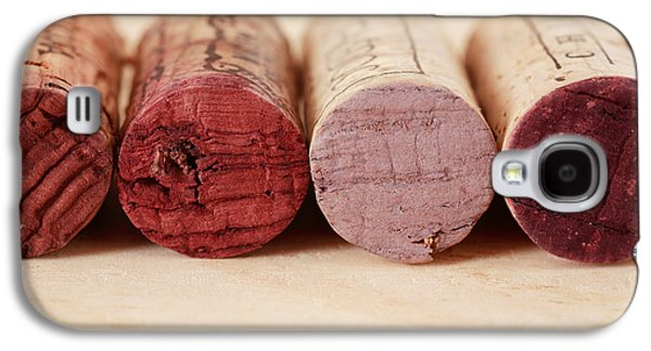 Wine Tasting Galaxy S4 Cases - Red Wine Corks Galaxy S4 Case by Frank Tschakert