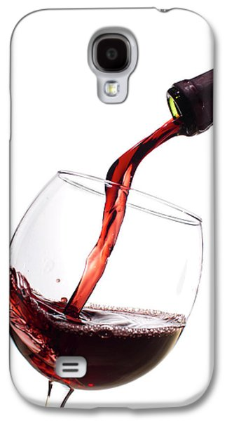 Red Wine Poured Into Wineglass Galaxy S4 Case by Dustin K Ryan