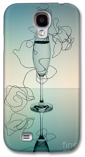 Champagne Glasses Galaxy S4 Cases - Reflection Galaxy S4 Case by Nailia Schwarz