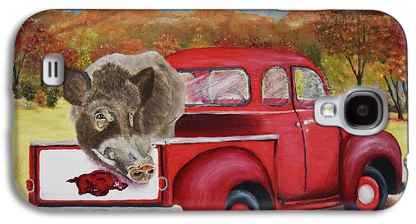 Ridin' With Razorbacks 2 Galaxy S4 Case by Belinda Nagy