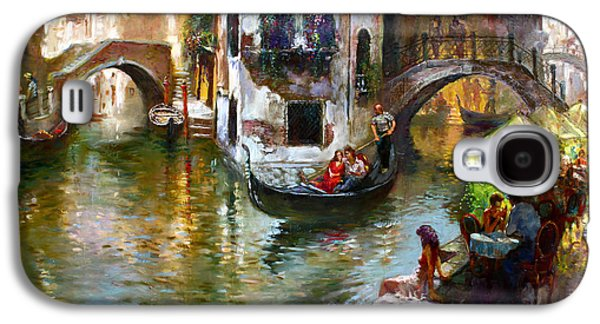 Groom Galaxy S4 Cases - Romance in Venice Galaxy S4 Case by Ylli Haruni