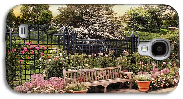 Rose Garden Trellis Galaxy S4 Case by Jessica Jenney