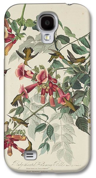 Ruby-throated Hummingbird Galaxy S4 Case by John James Audubon