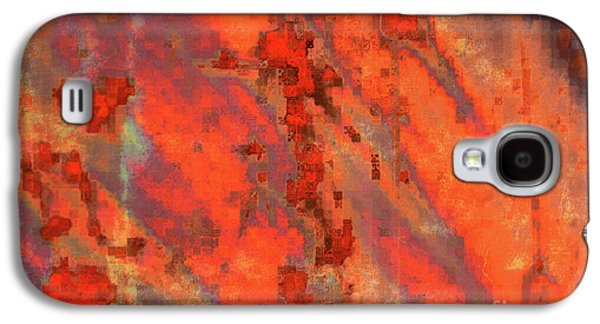 Abstract Digital Photographs Galaxy S4 Cases - Rust Abstract Galaxy S4 Case by Carol Groenen