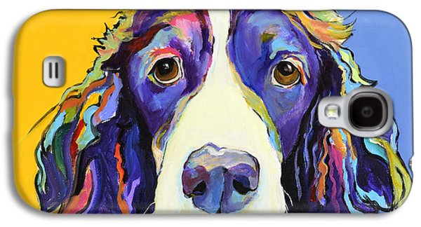 Dog Paintings Galaxy S4 Cases - Sadie Galaxy S4 Case by Pat Saunders-White