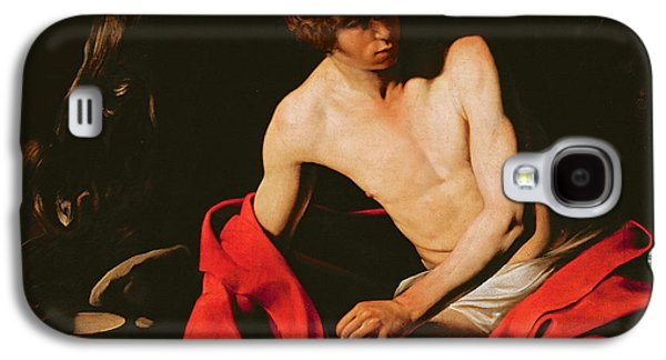 Baptist Paintings Galaxy S4 Cases - Saint John the Baptist Galaxy S4 Case by Michelangelo Caravaggio
