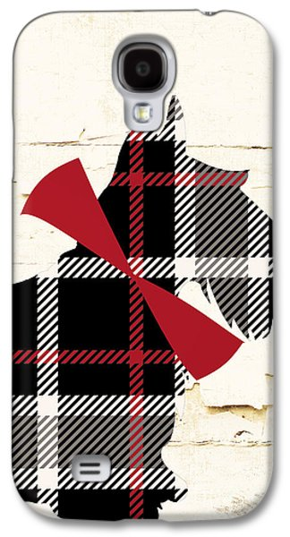 Scottish Terrier Tartan Plaid Galaxy S4 Case by Mindy Sommers