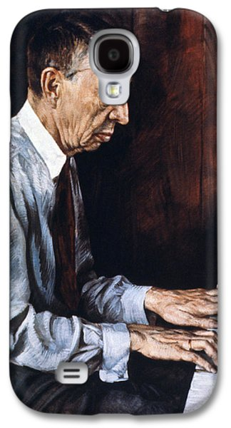 Pianist Photographs Galaxy S4 Cases - Sergei Rachmaninoff Galaxy S4 Case by Granger
