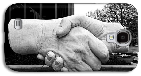 Sculptures Galaxy S4 Cases - Shaking Hands Of Sacramento Galaxy S4 Case by Mountain Dreams