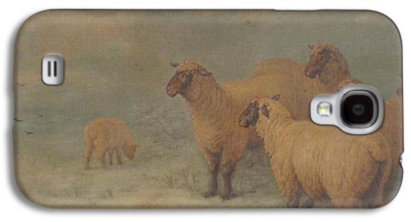 Sheep On Moorland Galaxy S4 Case by Henry Charles