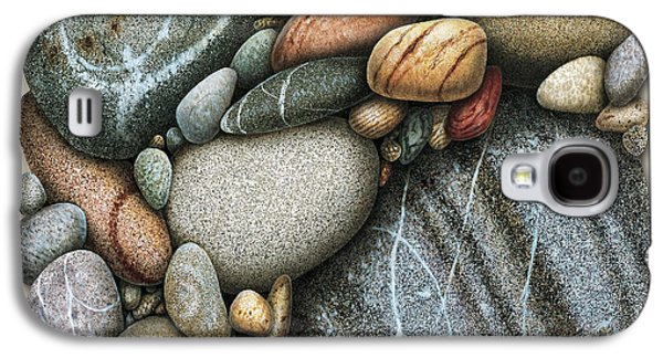 Pebbles Galaxy S4 Cases - Shore Stones 3 Galaxy S4 Case by JQ Licensing