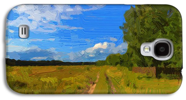 Colorful Abstract Galaxy S4 Cases - Simple Landscape Galaxy S4 Case by Yury Malkov