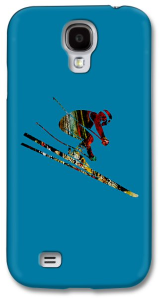 Snow Galaxy S4 Cases - Skiing Collection Galaxy S4 Case by Marvin Blaine