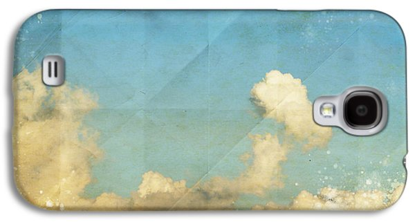 Dried Photographs Galaxy S4 Cases - Sky And Cloud On Old Grunge Paper Galaxy S4 Case by Setsiri Silapasuwanchai