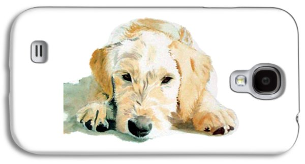 Puppies Galaxy S4 Cases - Sleepy Labradoodle Pup Galaxy S4 Case by Yvonne Carter