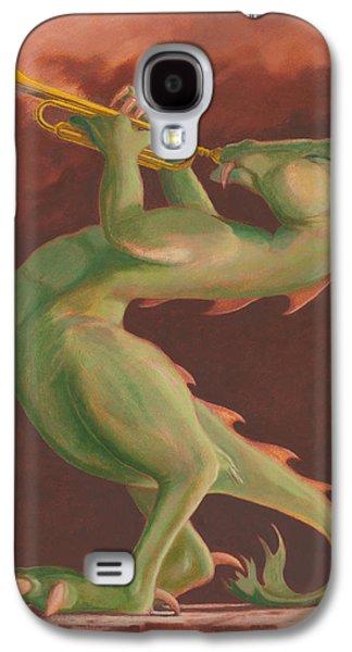 Leonard Filgate Paintings Galaxy S4 Cases - Smokin Galaxy S4 Case by Leonard Filgate