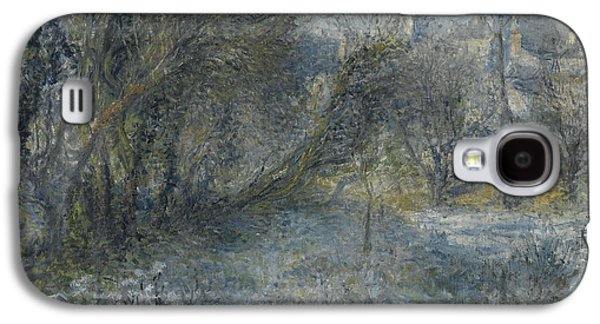 Snow-covered Landscape Galaxy S4 Cases - Snow covered Landscape Galaxy S4 Case by Auguste Renoir