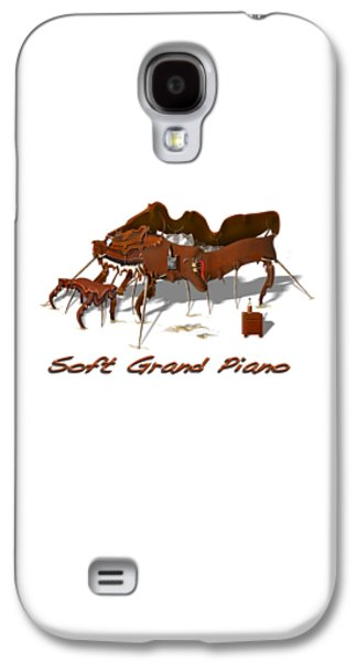 Crutch Digital Galaxy S4 Cases - Soft Grand Piano  Galaxy S4 Case by Mike McGlothlen