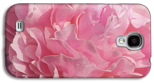 Indiana Flowers Galaxy S4 Cases - Softly Pink Galaxy S4 Case by Sandy Keeton