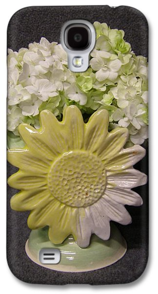 Hand Thrown Pottery Galaxy S4 Cases - Spring Flowers Galaxy S4 Case by Sandi Floyd