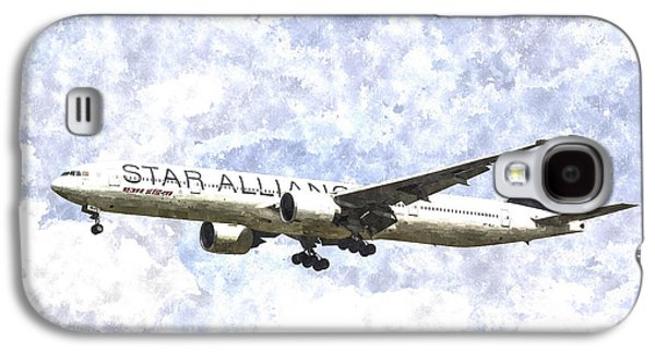 Star Alliance Boeing 777 Art Galaxy S4 Case by David Pyatt