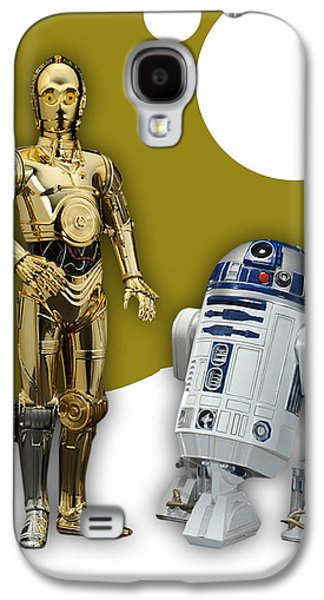 Star Wars C-3po And R2-d2 Galaxy S4 Case by Marvin Blaine