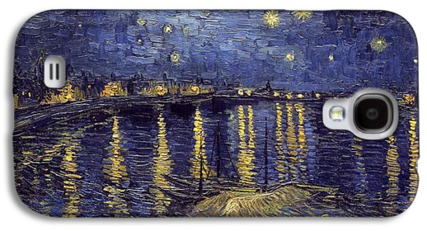 Vincent Van Gogh Galaxy S4 Cases - Starry Night Over The Rhone Galaxy S4 Case by Van Gogh