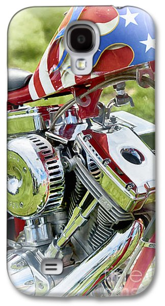 Abstract Digital Digital Art Galaxy S4 Cases - Stars and Stripes Harley Galaxy S4 Case by Tim Gainey