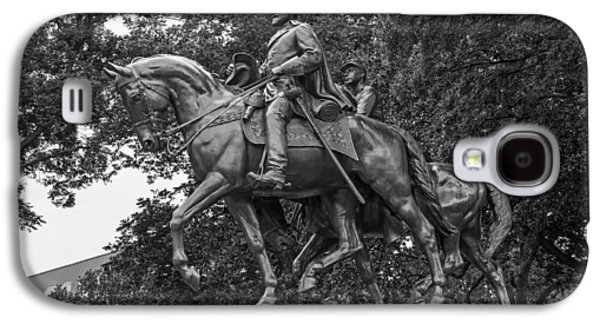 Landmarks Sculptures Galaxy S4 Cases - Statue of General Robert E Lee on His Horse Traveller  Galaxy S4 Case by Mountain Dreams