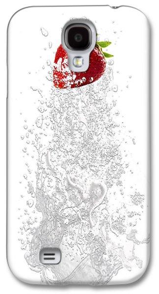 Strawberry Splash Galaxy S4 Case by Marvin Blaine