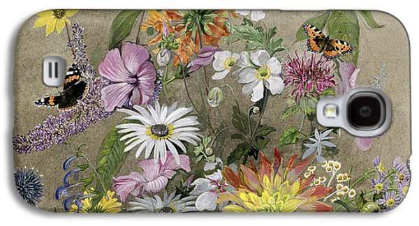 Moth Paintings Galaxy S4 Cases - Summer Flowers Galaxy S4 Case by John Gubbins