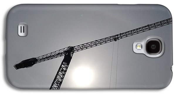 Machinery Galaxy S4 Cases - Sun Silhouette - Crane Galaxy S4 Case by Marla McPherson