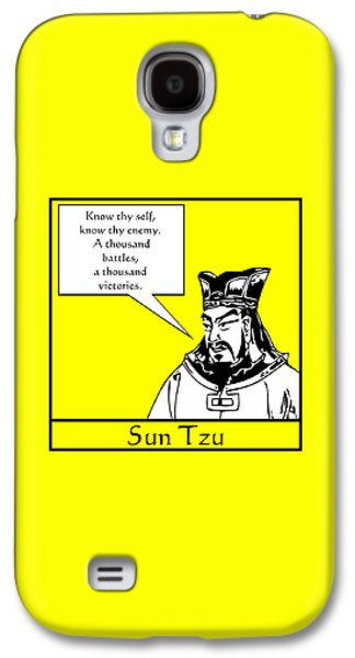 Sun Galaxy S4 Cases - Sun Tzu Galaxy S4 Case by War Is Hell Store