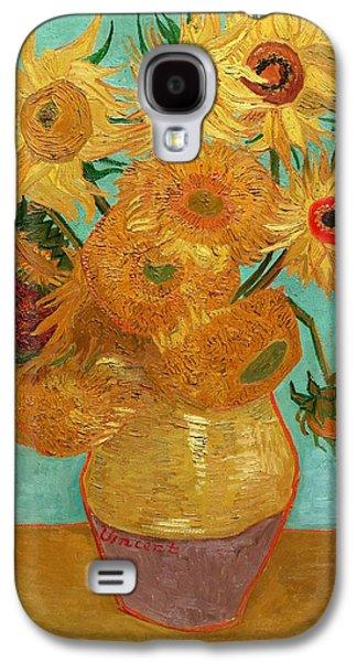 Vincent Van Gogh Galaxy S4 Cases - Sunflowers Galaxy S4 Case by Van Gogh