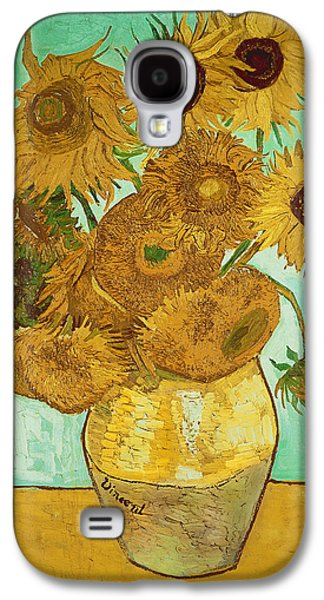 Sunflowers Galaxy S4 Case by Vincent Van Gogh